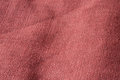 Coarse linen close up of red brown Royalty Free Stock Image