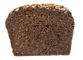 Coarse rye bread loaf isolated on white with clipping path Stock Images