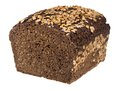 Coarse rye bread loaf isolated on white with clipping path Stock Photos