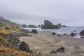 The coast along Gold Beach, Oregon Royalty Free Stock Photo