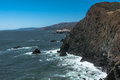 The coast along Point Bonita, San Francisco Royalty Free Stock Photo
