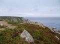 Coast in brittany idyllic coastal scenery near locronan france Royalty Free Stock Image