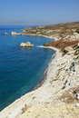 Coast in Cyprus Royalty Free Stock Image