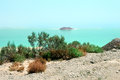 Coast of the dead sea israel landscape desert Royalty Free Stock Photo
