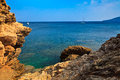 Coast on elba island view of the rocky coastline italy Stock Photo