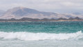 Coast of fuerteventura the island spain Royalty Free Stock Photography