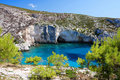 Coast of Greece in Zakynthos Royalty Free Stock Images