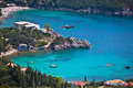 Coast of the Greek Island corfu paleokastritsa Royalty Free Stock Photos
