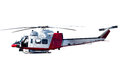 Coast guard helicopter isolated on white background Stock Photos