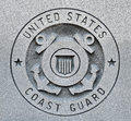 Coast guard seal the of the united states engraved into granite Royalty Free Stock Photography