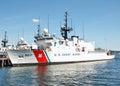 Coast guard ship boston massachusetts usa june united sates docked in boston wharf Stock Photography