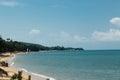 Coast Hotel Beachfront, asia. Blue sea Royalty Free Stock Photo