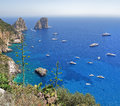 Coast of the island of capri italy landscape picture made from viewing platform Stock Photography