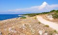 Coast on the island of corfu greece europe in summer Royalty Free Stock Photo