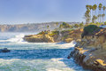 Coast of la jolla california a picture perfect morning along coastal a popular tourist destination near san diego southern on the Royalty Free Stock Images