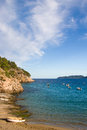 Coast line at Ibiza, Spain Royalty Free Stock Photography