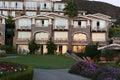 Coast luxury apartments during sunset