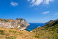 Coast of Mallorca boat Royalty Free Stock Photos
