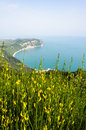 The coast from mount conero an image of Stock Photo
