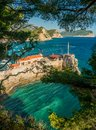 Coast near petrovac view of montenegro Royalty Free Stock Photo