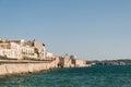 Coast of Ortigia island at city of Syracuse, Sicily, Italy.