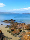 Coast panorama - Wellington, New Zealand Stock Photo