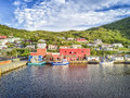 Coast in Petty Harbour at sunset, Newfoundland, Canada Royalty Free Stock Photo