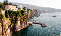 Coast of Piano di Sorrento Royalty Free Stock Photo