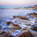 Coast and Port of Nice, France Royalty Free Stock Photo