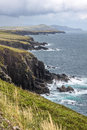 Coast at slea head drive iveragh peninsula county kerry ireland Royalty Free Stock Images