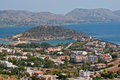 The coast a small resort town on of attica in greece Royalty Free Stock Photo
