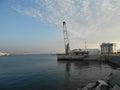 The coast of Sochi, seaport and yacht marina Royalty Free Stock Photo