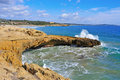 Coast of Tarragona, Spain, and Arrabassada beach Stock Photo