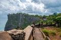 Coast at the temple of uluwatu on bali indonesia island Stock Images