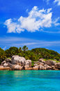 Coast of tropical island Royalty Free Stock Photography