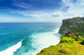 Coast at uluwatu temple bali indonesia Stock Photo