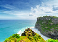 Coast at uluwatu temple bali indonesia Stock Photos