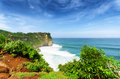 Coast at uluwatu temple bali indonesia Royalty Free Stock Photo