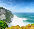 Coast at uluwatu temple bali indonesia Stock Photography