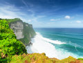 Coast at uluwatu temple bali indonesia Royalty Free Stock Photos