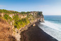 Coast at uluwatu temple bali indonesia Stock Image