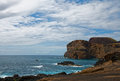 Coast of volcanic island Faial Royalty Free Stock Photo