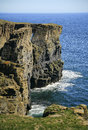 Coastal arch near wick caithness scotland uk this called the brig o trams lies km south of far north east europe the north sea has Royalty Free Stock Images