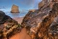 Coastal cliff landscape Royalty Free Stock Images