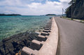 Coastal defence, Okinawa Royalty Free Stock Photo