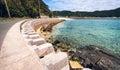 Coastal defence, Okinawa Royalty Free Stock Photo