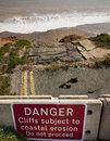 Coastal erosion Royalty Free Stock Photography