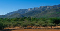 Coastal Foothills and mountains of Spain. Royalty Free Stock Photo