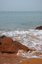 Coastal landscape in qingdao china Royalty Free Stock Image