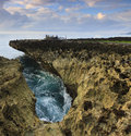 Coastal landscape at water blow bali indonesia Stock Photography